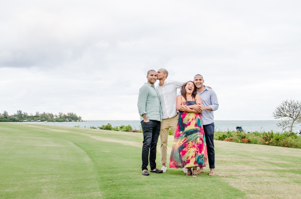 Family photoshoot in Mauritius
