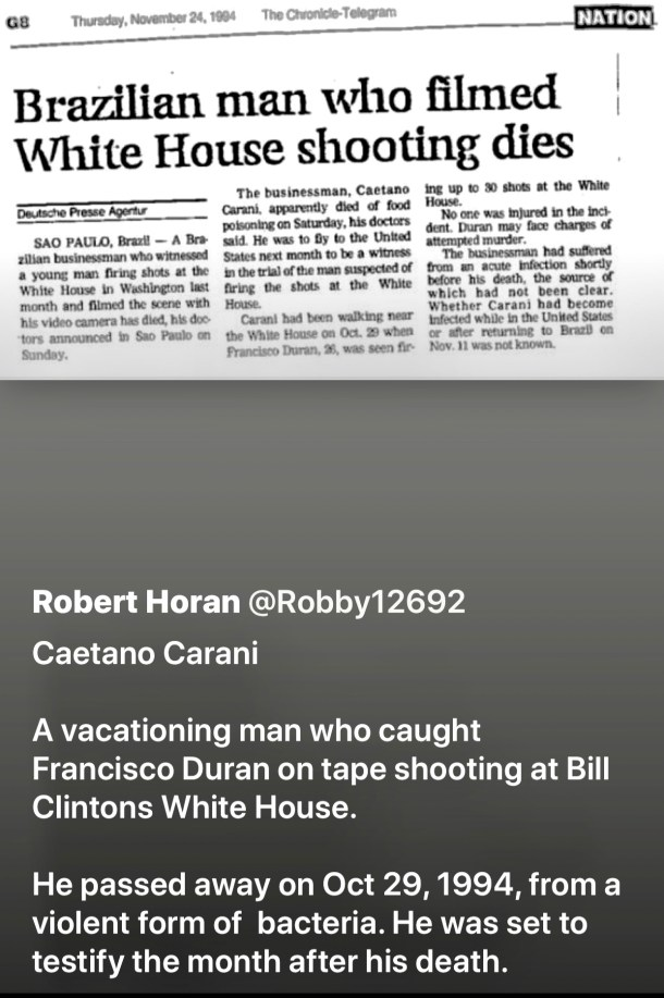 Epstein History With the Clintons & Associates Who Died