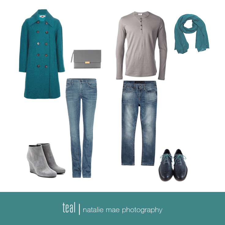 Teal is a wintry favorite this year.