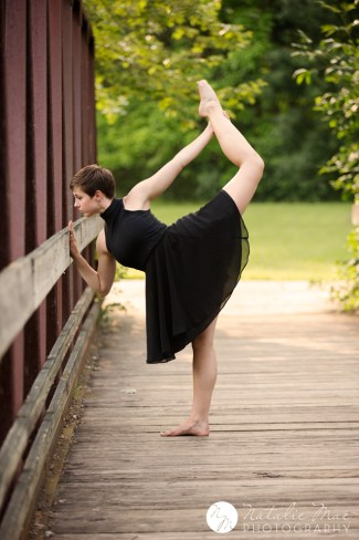 Dancer stretches in the gorgeous evening light in Ann Arbor.
