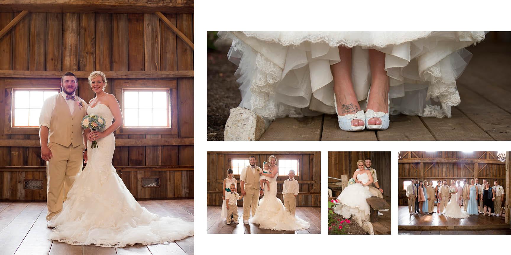 Misty Farms wedding formals.