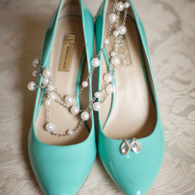 Teal wedding shoes - The Valley Ann Arbor Wedding Photographer