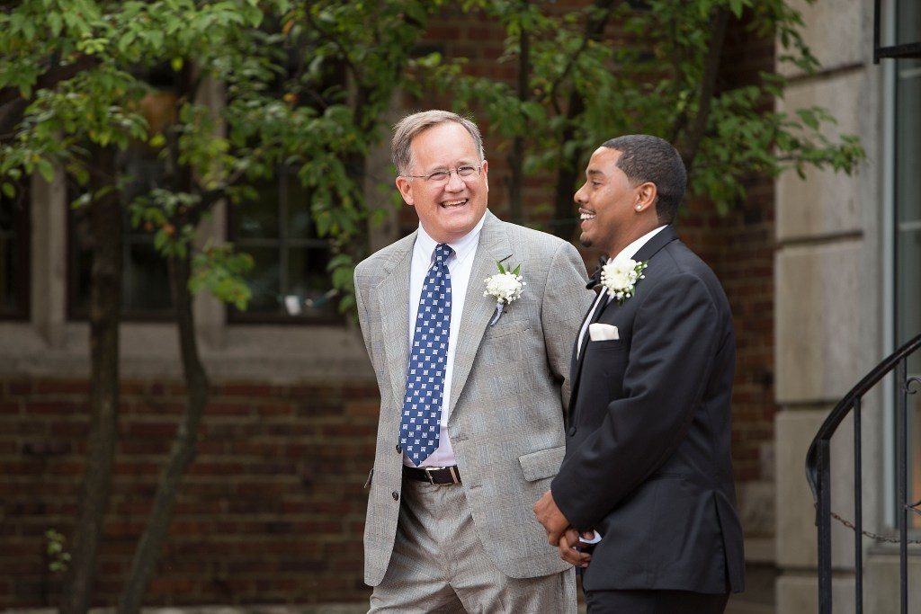 Groom and pastor