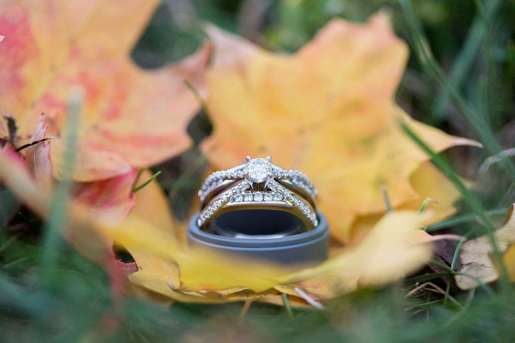 Fall wedding rings