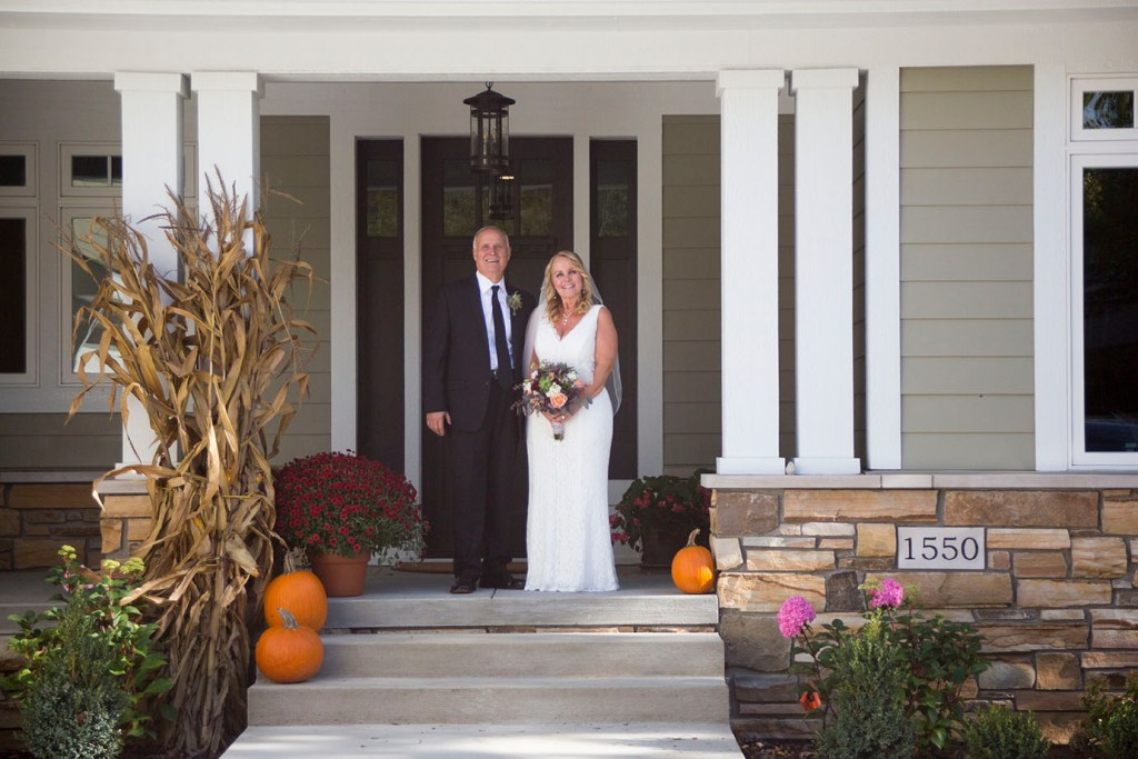 Chelsea Michigan elopement in October