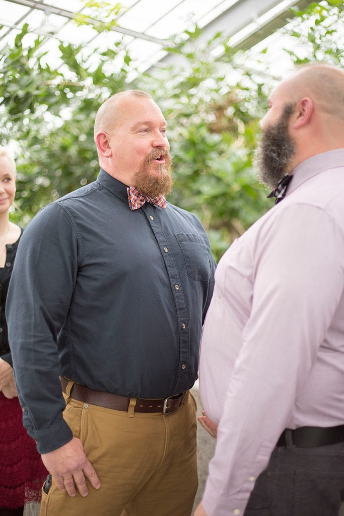 LGBTQ couple exchanges vows