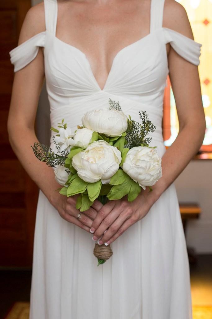 Kellyn's gorgeous peony wedding bouquet