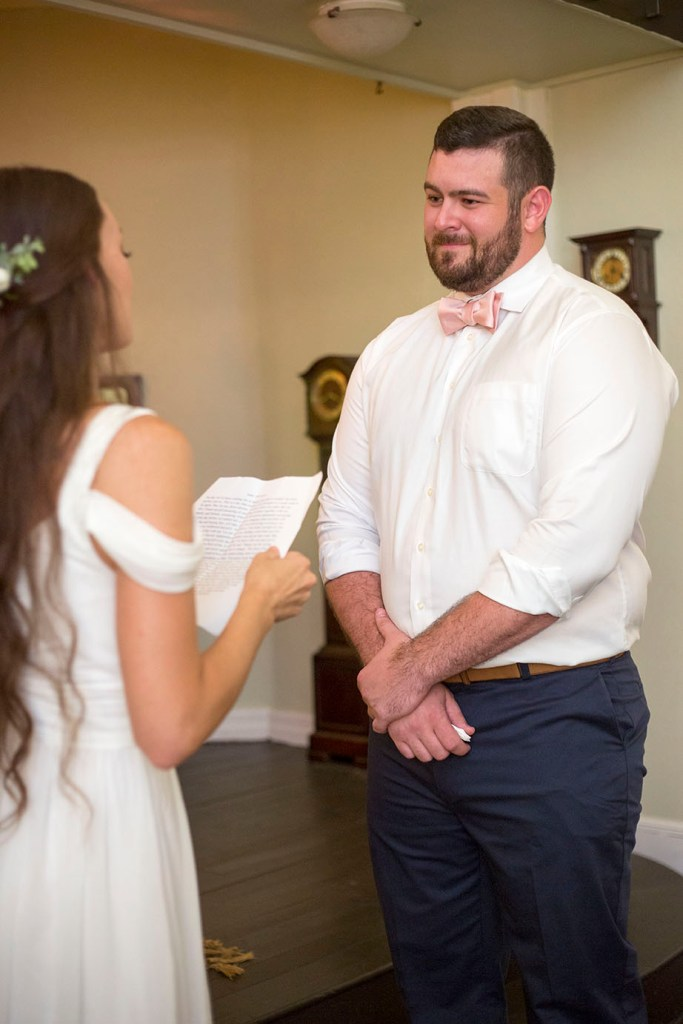 Michigan groom getting emotional during vows
