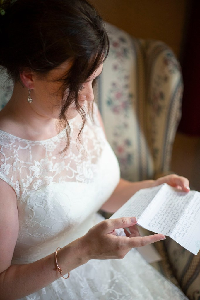 Intimate letter from the groom