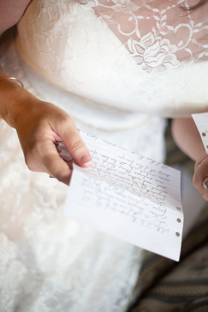 Groom's note to his bride