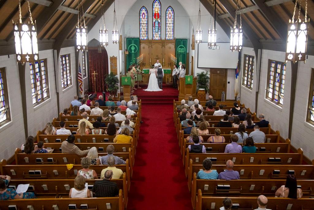 St. Paul's Lutheran Church wedding in Northville