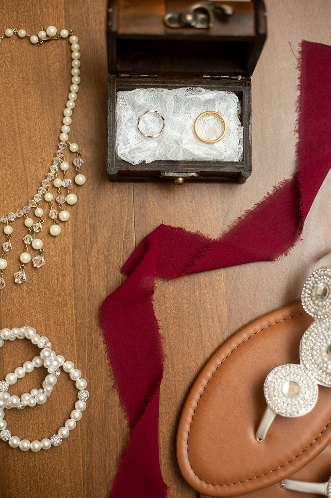 Lay flat of brides details