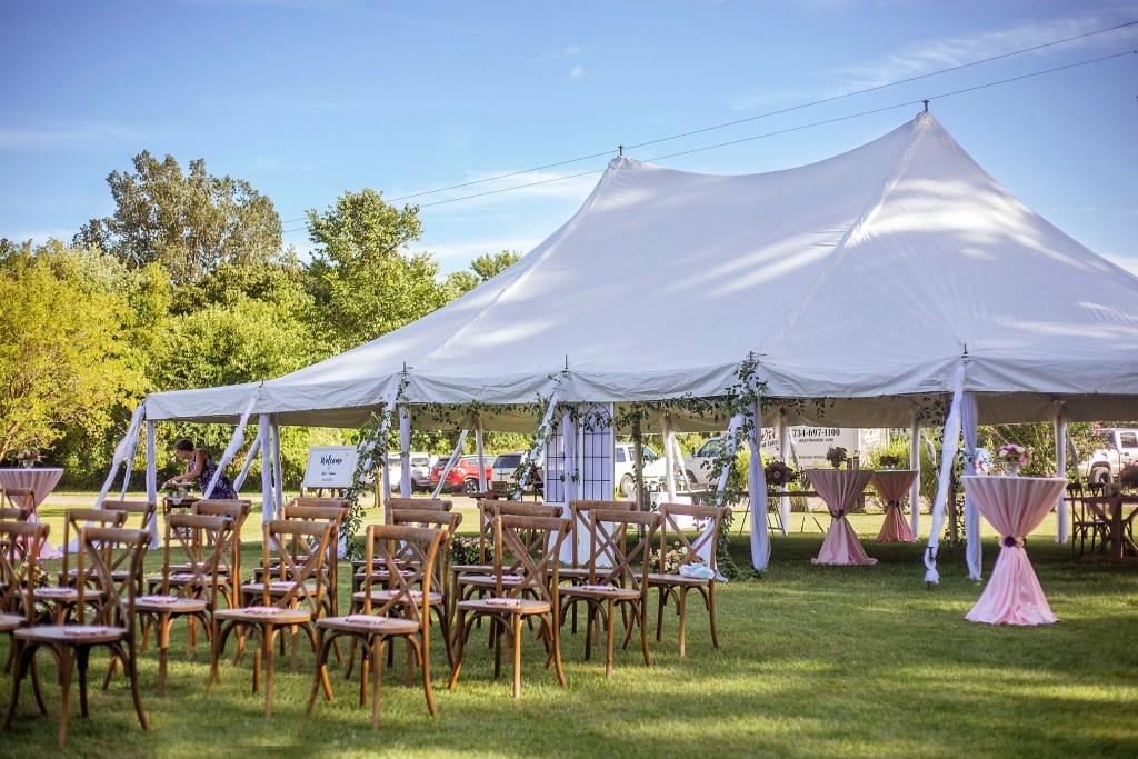 Belleville wedding tent