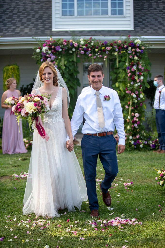 Belleville wedding couple after their vows
