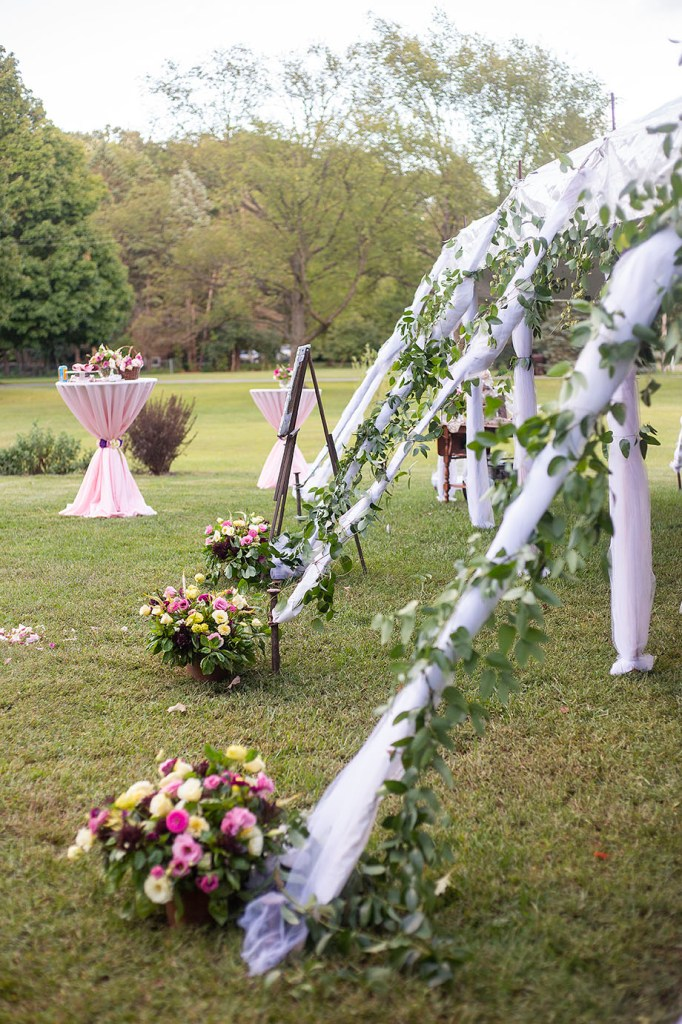 Tent stake decorations