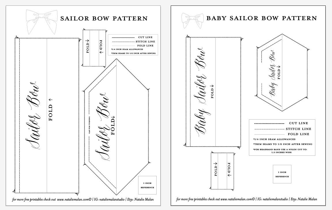 Patterns Sailor Baby Girl