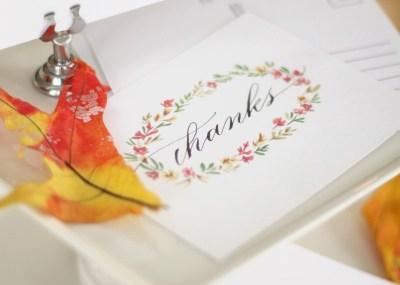 Free thanksgiving postcards
