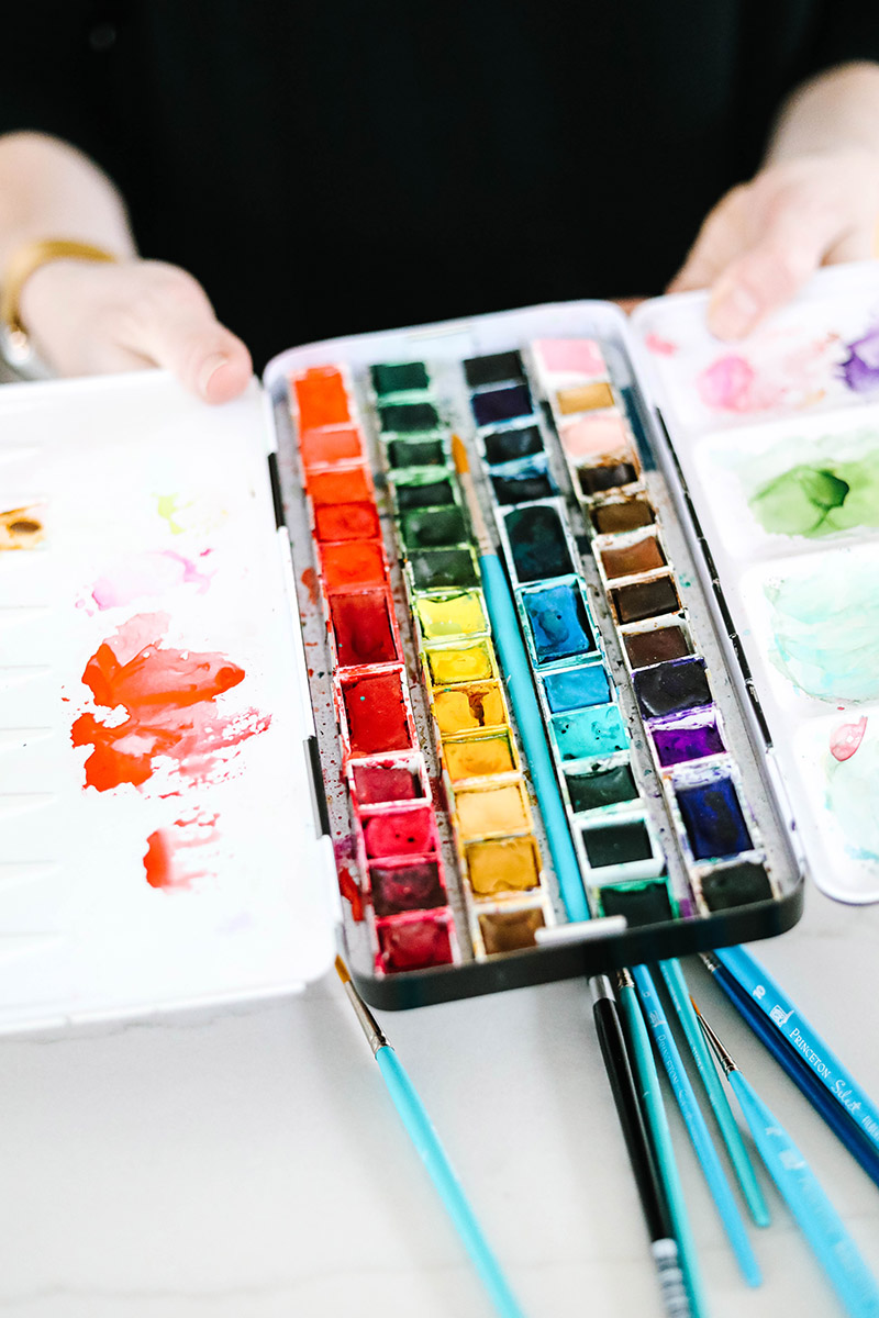 metal watercolor pan palette