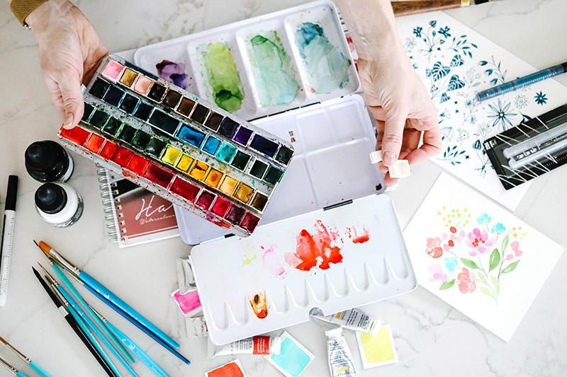watercolor art supplies paint paper