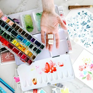 watercolor art supplies paint paper