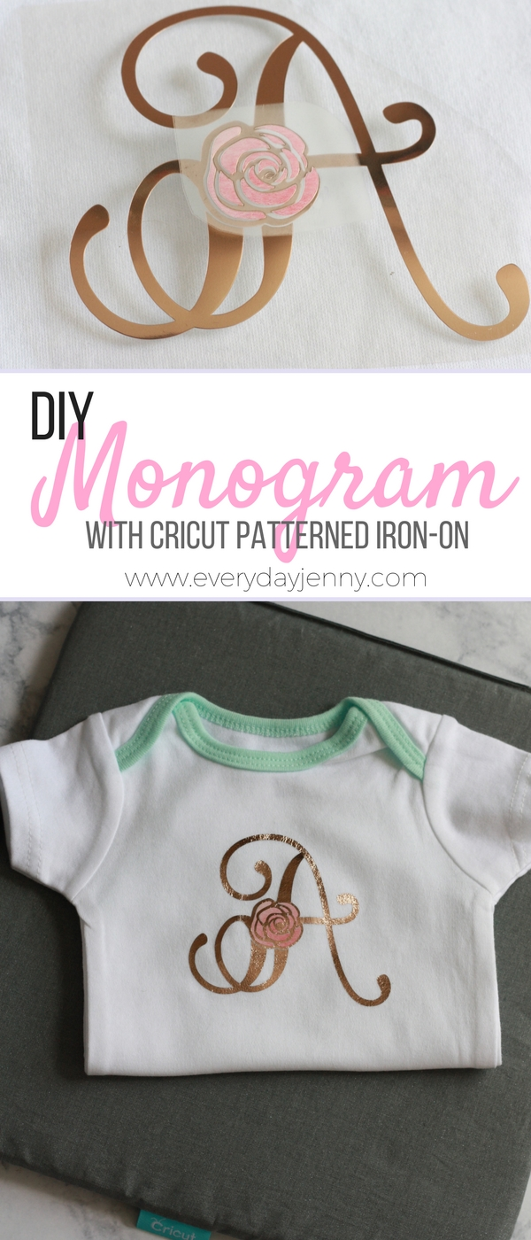 MONOGRAMMED SHIRTS WITH CRICUT PATTERNED IRON-ON