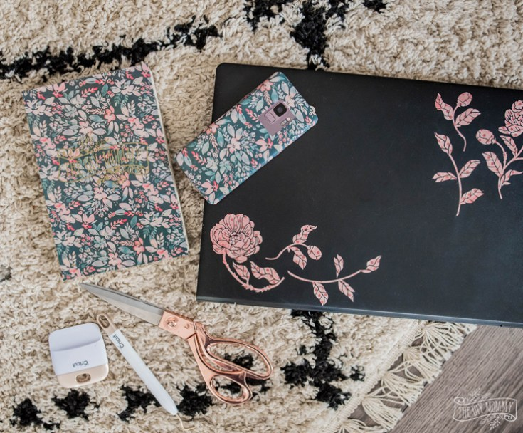 DIY Laptop, Phone & Notebook Stickers with Cricut