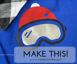 Make this snowboarding and skiing goggle shirt with the Cricut tutorial at nataliemenke.com
