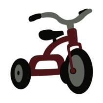 """tricycle png for """"They See Me Rollin'"""" T-shirt"""