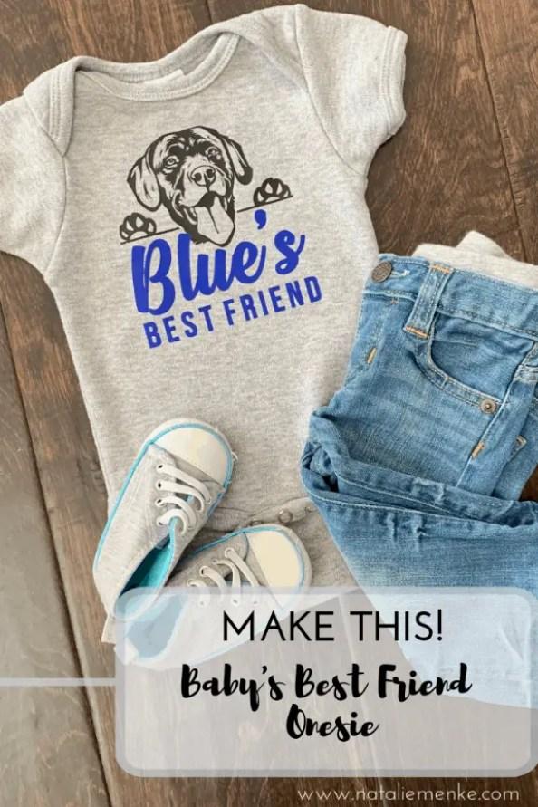 Make This! Baby's best friend onesie with black lab image