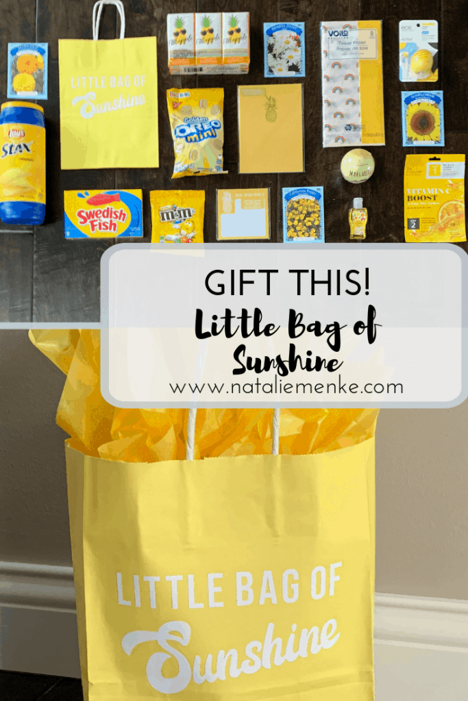 Make this Little Bag of Sunshine to brighten someone's day!