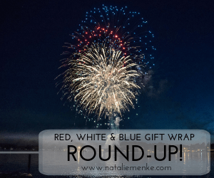 red, white and blue gift wrap round-up