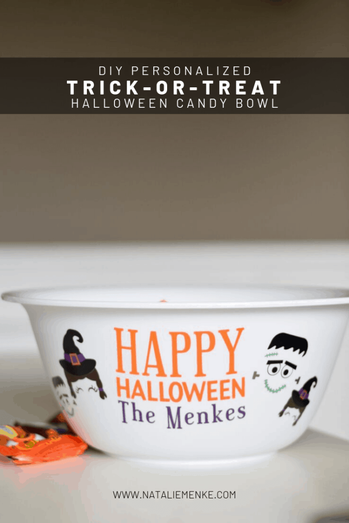 Create a one-of-a-kind fall gift by making this personalized trick-or-treat candy bowl. Watch your recipients' eyes light up when they discover you've add witches, monsters, even ghosts to represent each family member. Get the Cricut tutorial at www.nataliemenke.com