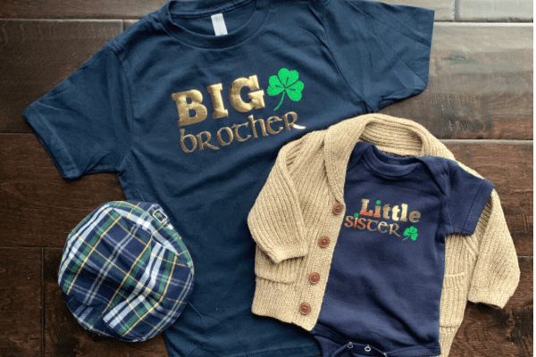 Custom Irish-themed Sibling Shirt Gifts {Tutorial}
