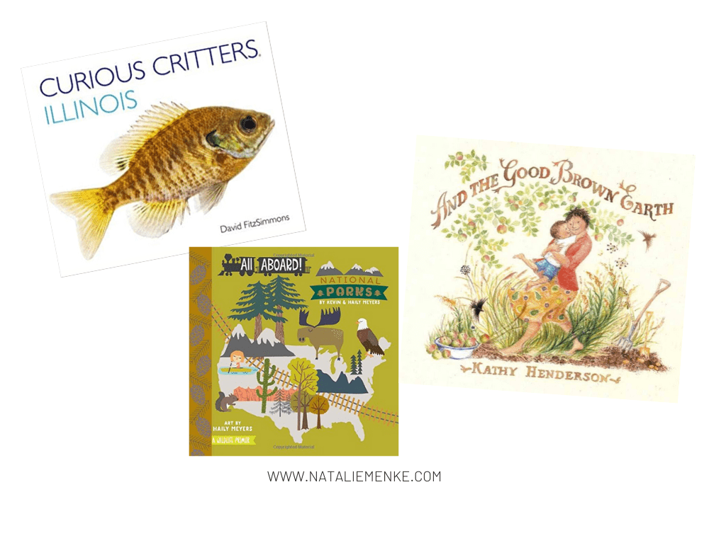 """""""Curious Critters of Illinois"""" and """"All Aboard National Parks"""" and """"And the Good Brown Earth"""" children's books"""