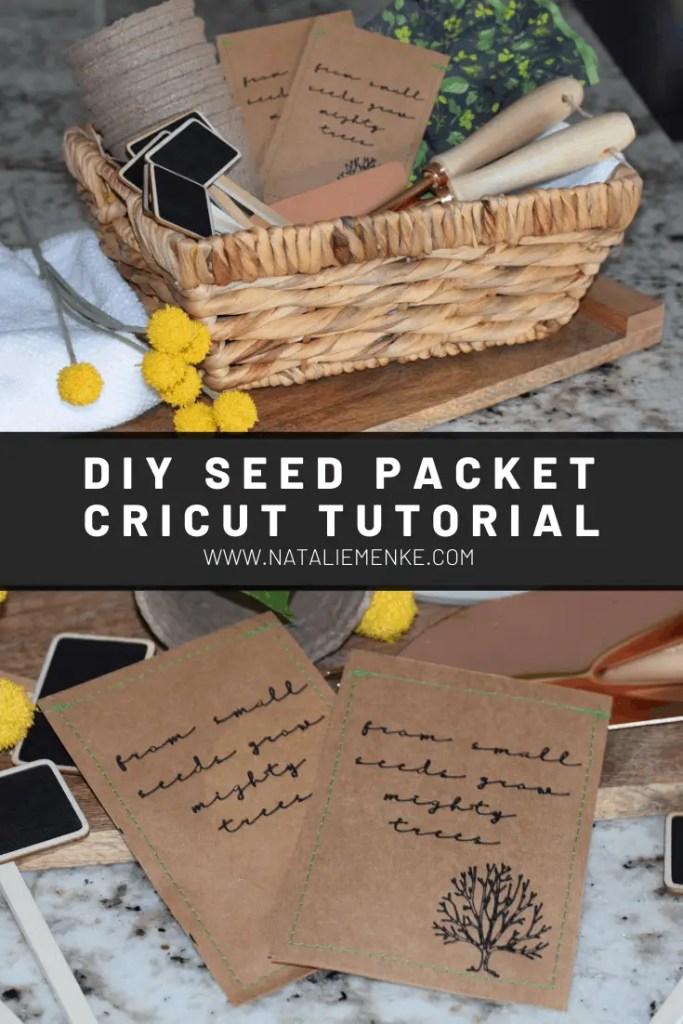 DIY Seed Packet Cricut tutorial