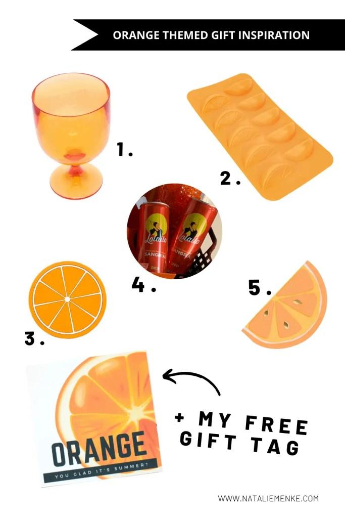 Orange themed gift inspiration