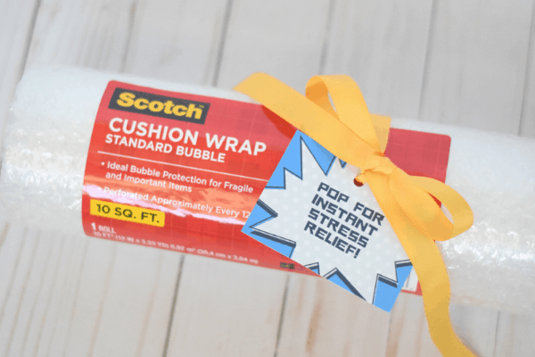 2-Minute Stress Relief Moving Gift with Free Printable Gift Tag