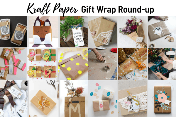 Kraft Paper Gift Wrap Round-up