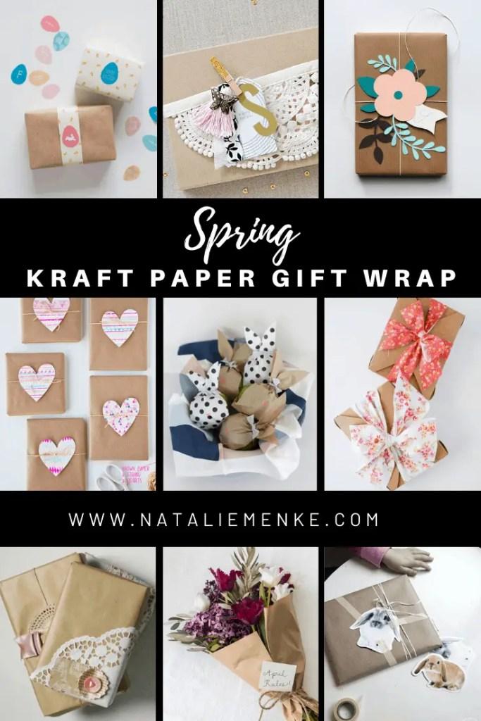 Spring Kraft Paper Gift Wrap Inspiration