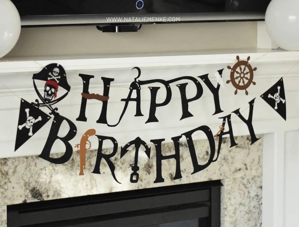 pirate themed Happy Birthday banner