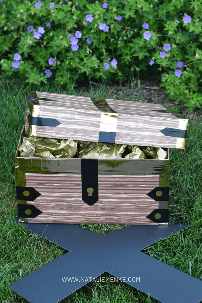 DIY pirate birthday party treasure chest