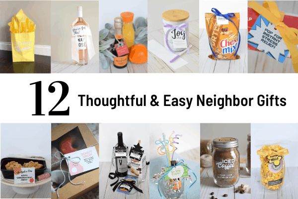 12 Thoughtful Neighbor Gifts with Free Themed Gift Tag Printables