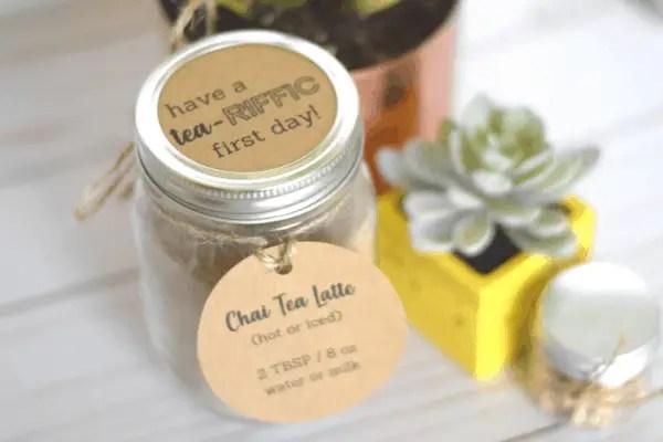 DIY Tea-themed Last Minute Teacher Gift Printables