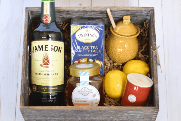 Hot Toddy Housewarming Gift Basket & Free Recipe Printable