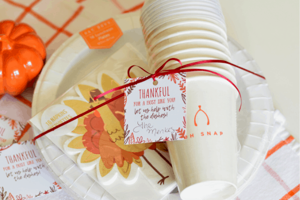Paper Plate Hostess Gift & Free Gift Tag Printable