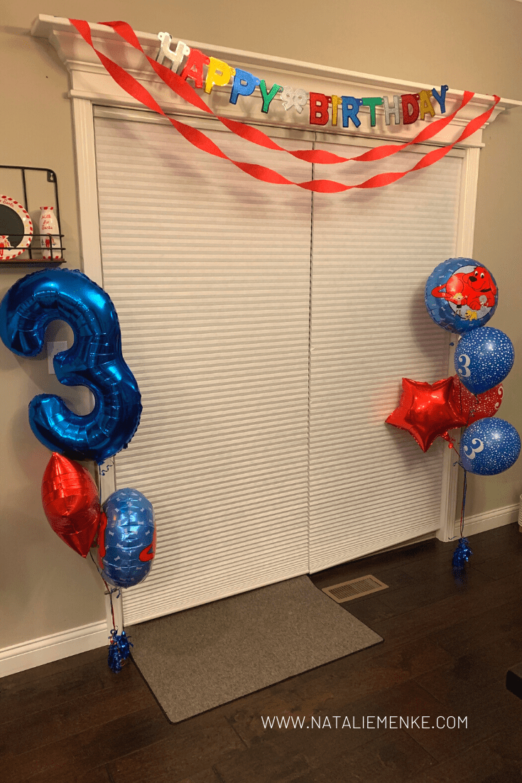Clifford the Big Red Dog birthday party decorations