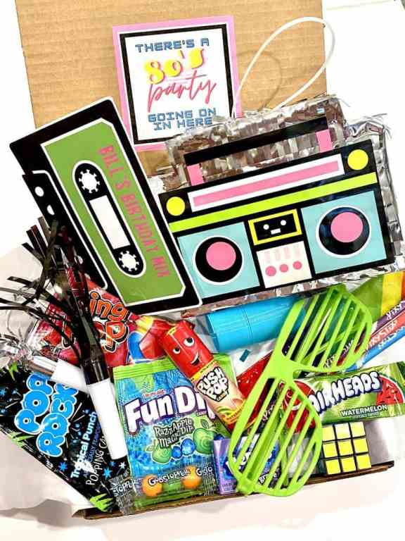 My Boxy Gifts nostalgic 1980's birthday-in-a-box