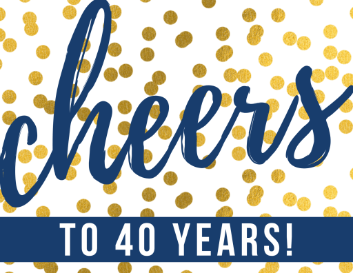 Cheers to 40 years printable gift tag