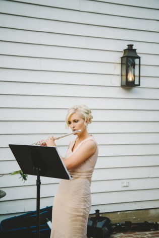 Lindsay Lewis playing before wedding