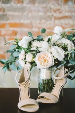 Peony-Bridal-Bouquet-Blush-Shoes
